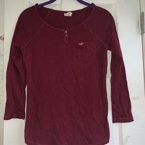 dark red holister long sleeve